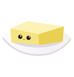 sad butter on white background vector image