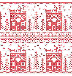 Scandinavian Nordic Christmas pattern vector image