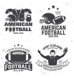 Set american football or rugclub badge vector