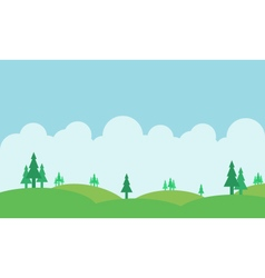 Silhouette of hill and beautiful sky landscape vector image
