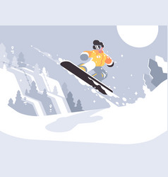 snowboarder guy snowboarding vector image
