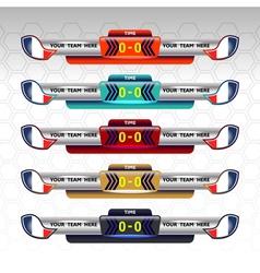 soccer scoreboard vector image