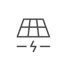 solar panel line icon vector image