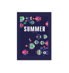 Summer tropical banner template trendy seasonal vector