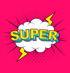 super comic cartoon explosions vector image