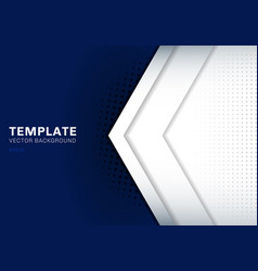 Template white arrow overlapping with shadow vector