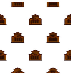 Theater building pattern flat vector