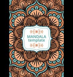 Tribal card with mandala vector