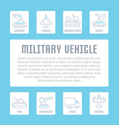 Website banner and landing page military vector