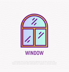 window thin line icon modern vector image