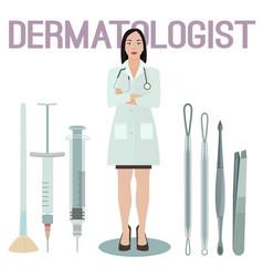 woman dermatologist image vector image