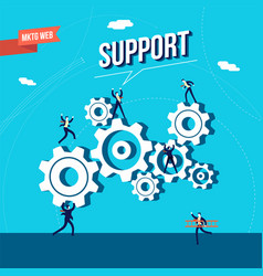 business marketing web support vector image