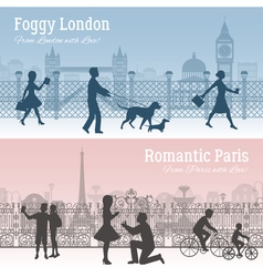 London And Paris Banners Set vector image vector image
