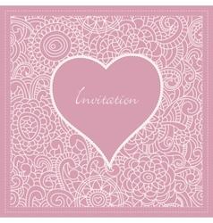 romantic invitation vector image vector image