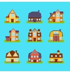 Suburban Real Estate Houses Set vector image vector image