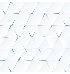 White paper cutout triangles background vector image