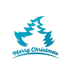 design for christmas greeting card vector image vector image