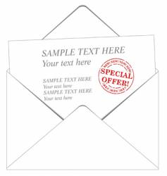envelope and message vector image vector image