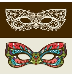 Festive silhouette and colored masks vector image