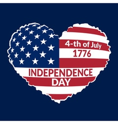 Independence Day Flag-22 vector image