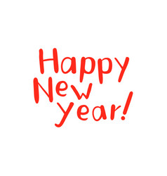 new year lettering and calligraphy design vector image