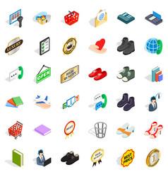 sale icons set isometric style vector image