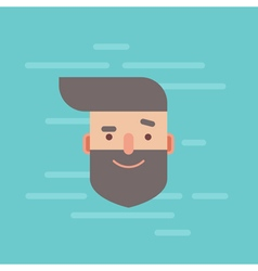 Trendy flat hipster character portrait vector image vector image