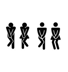 womens and mens toilet icon sign vector image vector image