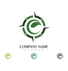 compass logo template icon design vector image