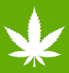 cannabis leaf icon green vector image