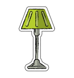 cartoon floor lamp decoration icon vector image