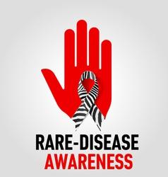 Raredisease awareness sign vector