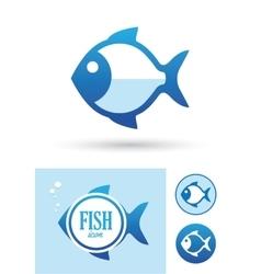 Round fish icon vector image vector image