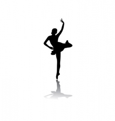 silhouette of woman ballet dancer vector image