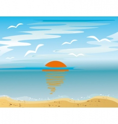 sunrise over the sea vector image vector image