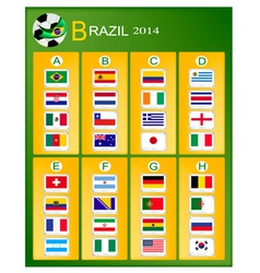 A Chart of Soccer Tournament in Brazil 2014 vector image