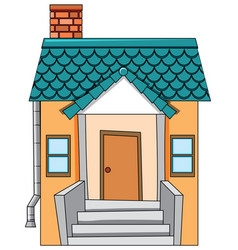 a flat isolated house vector image