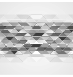 Abstract grey tech geometric background vector