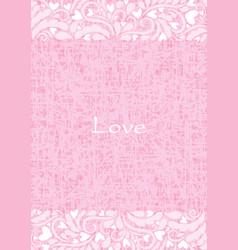 abstract lover flower frame frame vector image