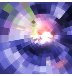 Abstract violet shining circle tunnel background vector image