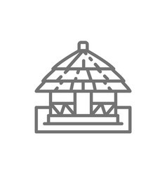 African local traditional house line icon vector