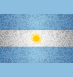 Argentina flag background for russian soccer event vector