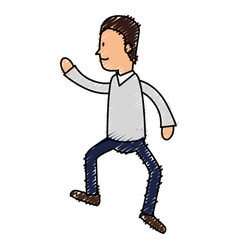 avatar of an actor acting pose vector image