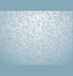 background with grey blue hexagon vector image