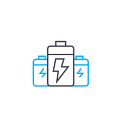 Battery packs linear icon concept battery packs vector
