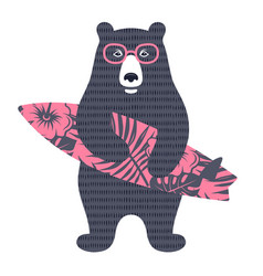 bear surfer 002 vector image