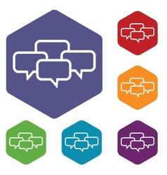 Big dialog rhombus icons vector image