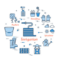 Blue gardening - irrigation vector