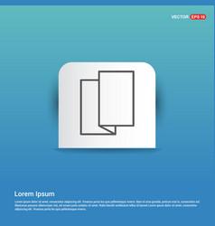 brochure flyer icon - blue sticker button vector image