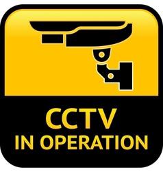 Cctv warning pictograph vector